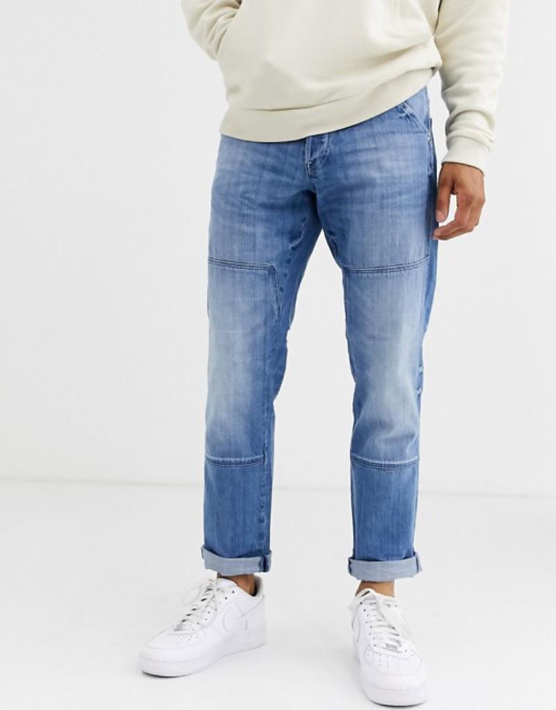 ジースター メンズ デニムパンツ ボトムス G-Star Faeroes straight tapered jeans Blue