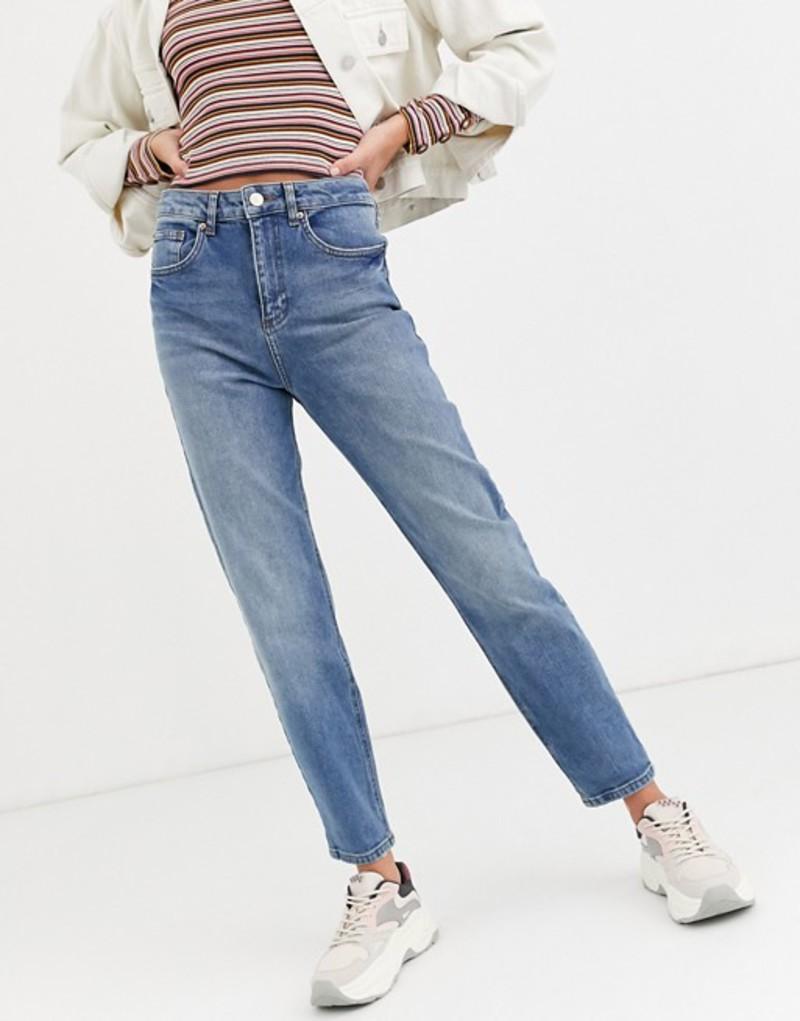ミスセルフフリッジ レディース デニムパンツ ボトムス Miss Selfridge mom jeans in mid wash Blue