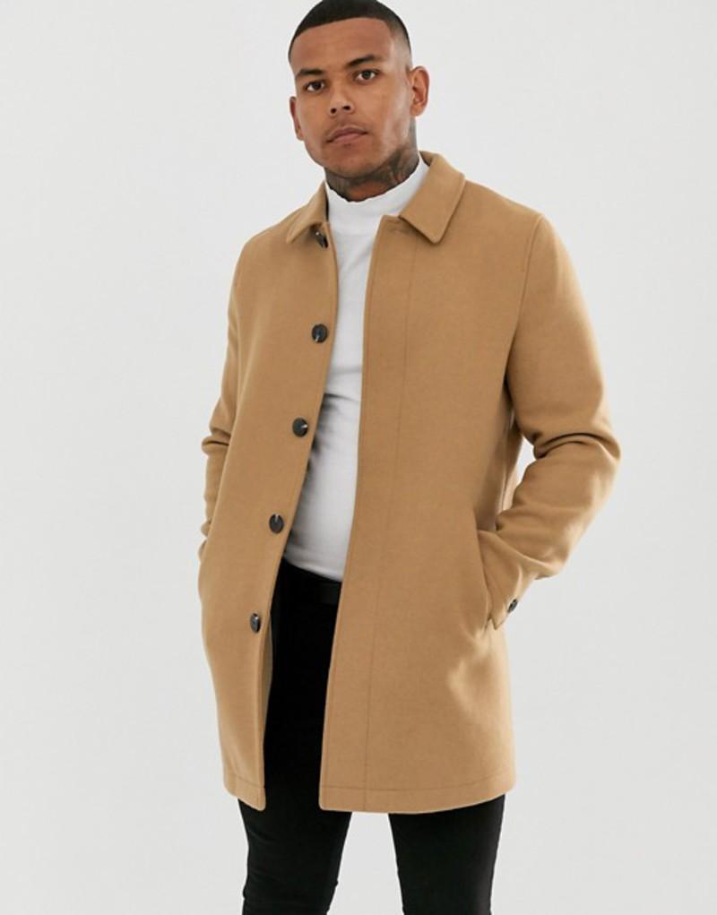 エイソス メンズ コート アウター ASOS DESIGN wool mix trench coat in camel Camel
