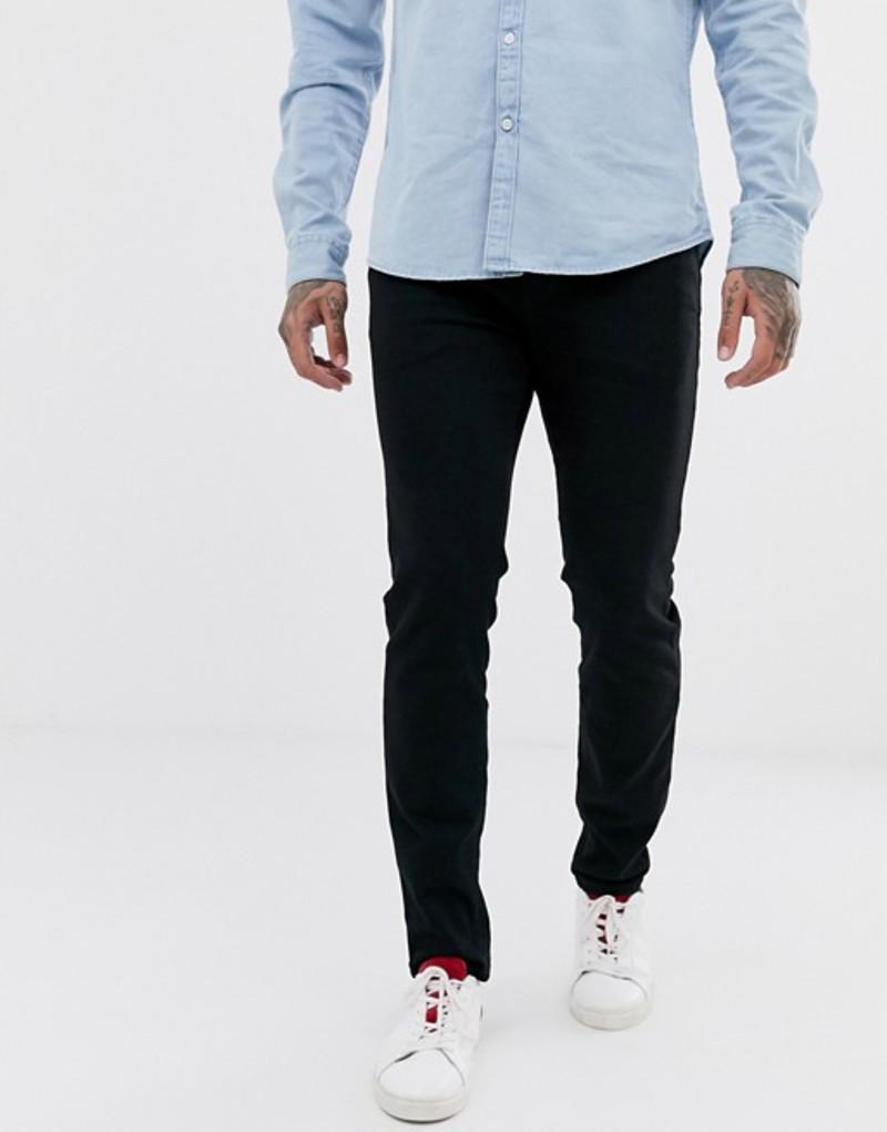 セレクテッドオム メンズ デニムパンツ ボトムス Selected Homme slim fit organic cotton jeans in black wash Black