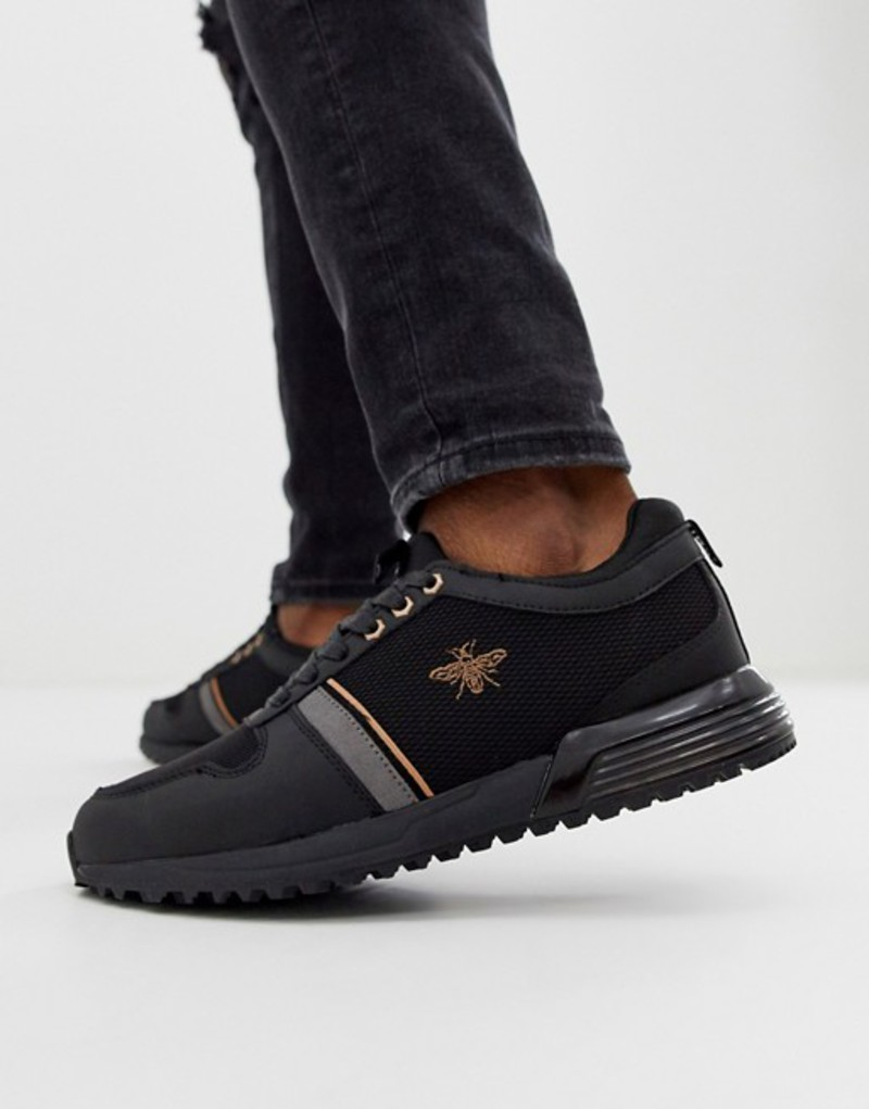 リバーアイランド メンズ スニーカー シューズ River Island sneakers in black Black