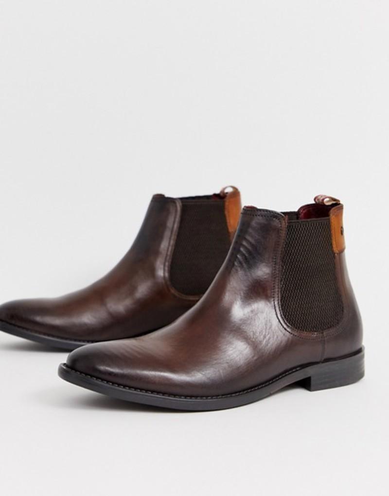 ベースロンドン メンズ ブーツ・レインブーツ シューズ Base London Dolcetta chelsea boots in brown Brown
