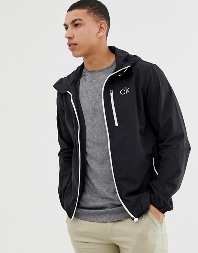 カルバンクラインゴルフ メンズ ジャケット・ブルゾン アウター Calvin Klein Golf ultra lite jacket in black C9389 Black