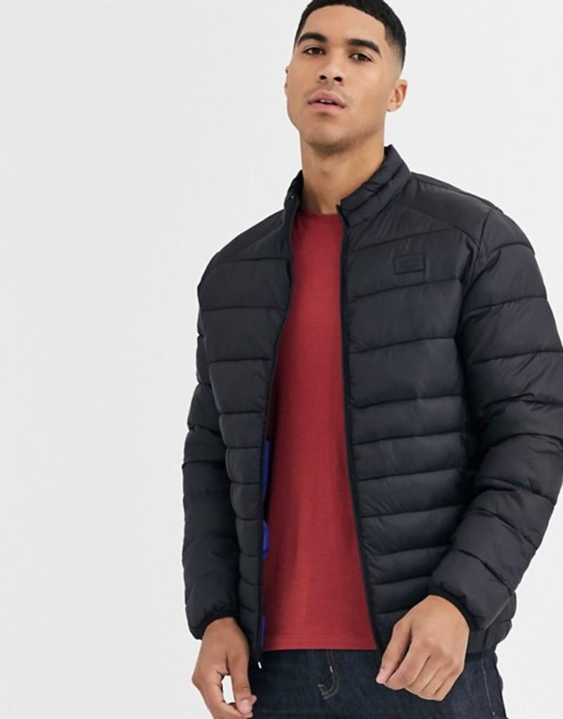 ジャック アンド ジョーンズ メンズ ジャケット・ブルゾン アウター Jack & Jones Essentials puffer jacket with stand collar Black