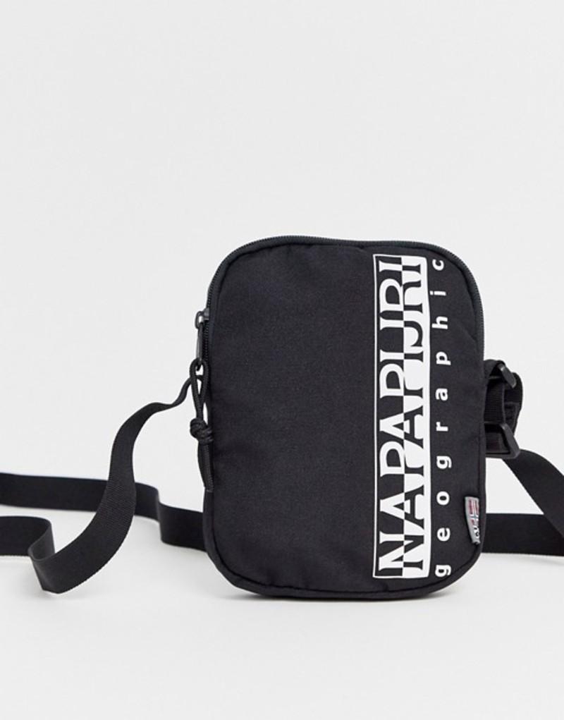 ナパピリ メンズ トラベルケース・パスポートケース バッグ Napapijri Happy small cross body bag in black Black