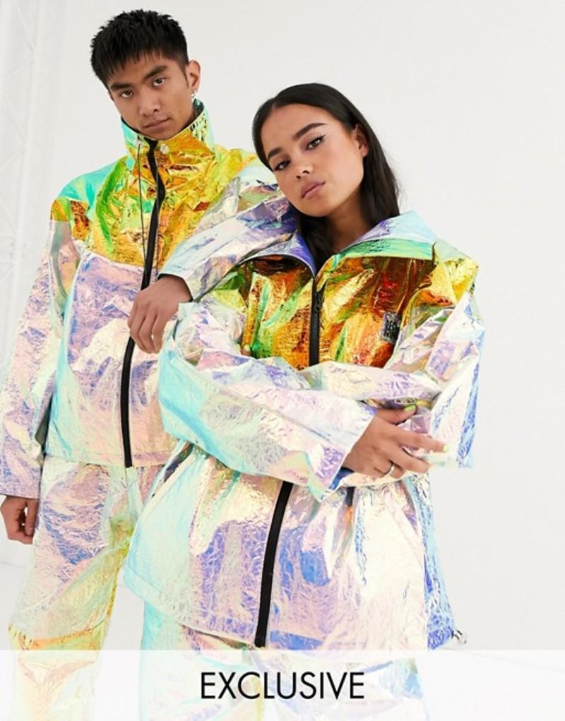 リクレイム ヴィンテージ メンズ ジャケット・ブルゾン アウター Reclaimed Vintage Unisex metallic half zip foil jacket Multi