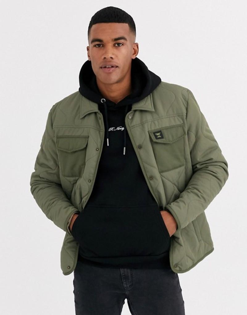 オンリーアンドサンズ メンズ ジャケット・ブルゾン アウター Only & Sons quilted jacket in green Kalamata