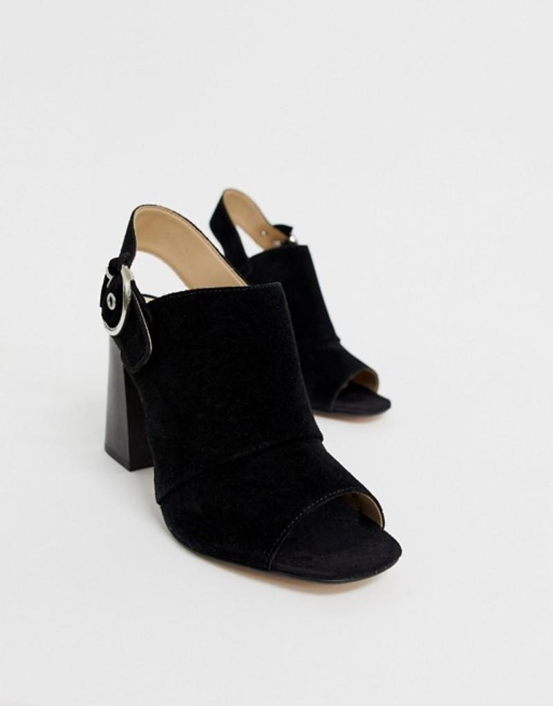 アルド レディース ヒール シューズ ALDO Elalyan buckle heeled leather sandals in black Black