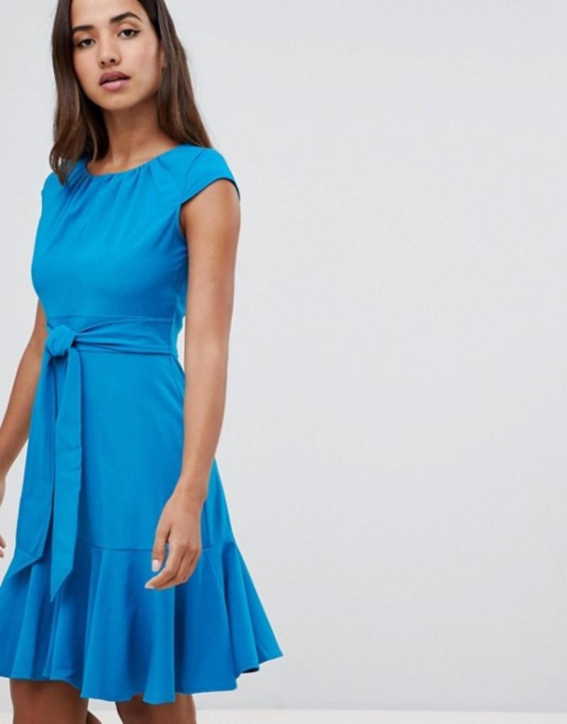 クローゼットロンドン レディース ワンピース トップス Closet London cap sleeve fit and flare dress Teal