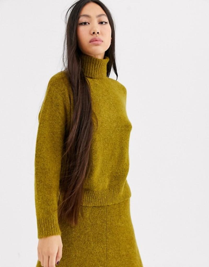 エイソス レディース ニット・セーター アウター ASOS WHITE alpaca roll neck Green