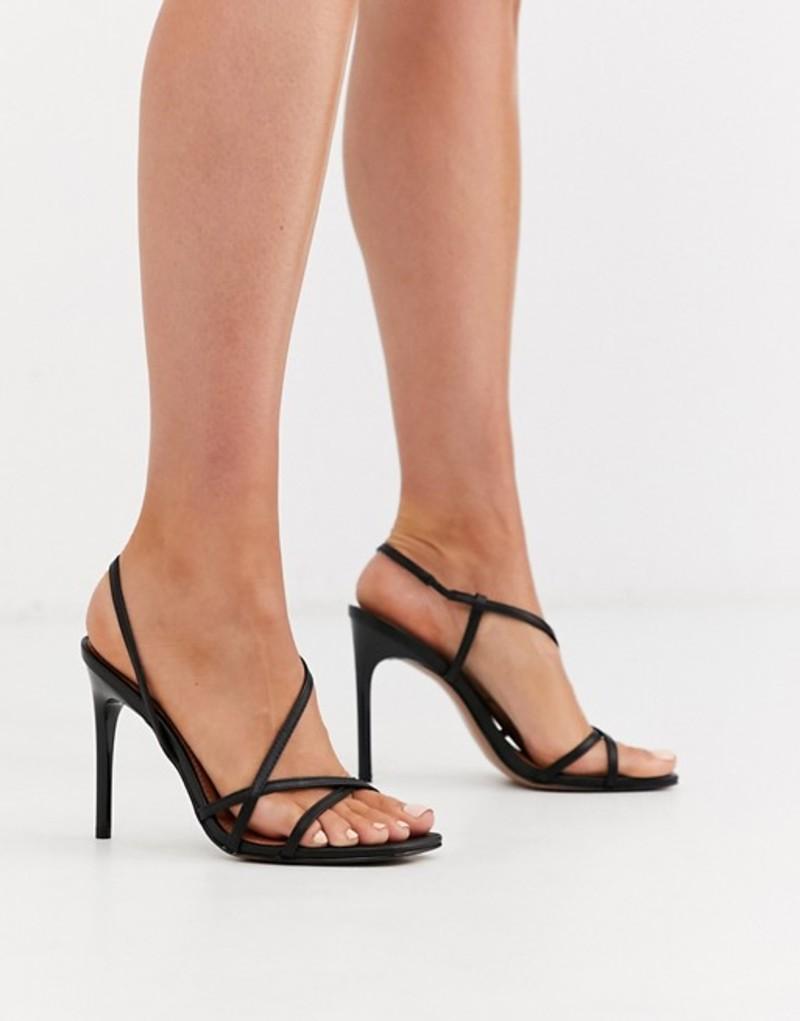 エイソス レディース サンダル シューズ ASOS DESIGN Notorious strappy heeled sandals in black Black