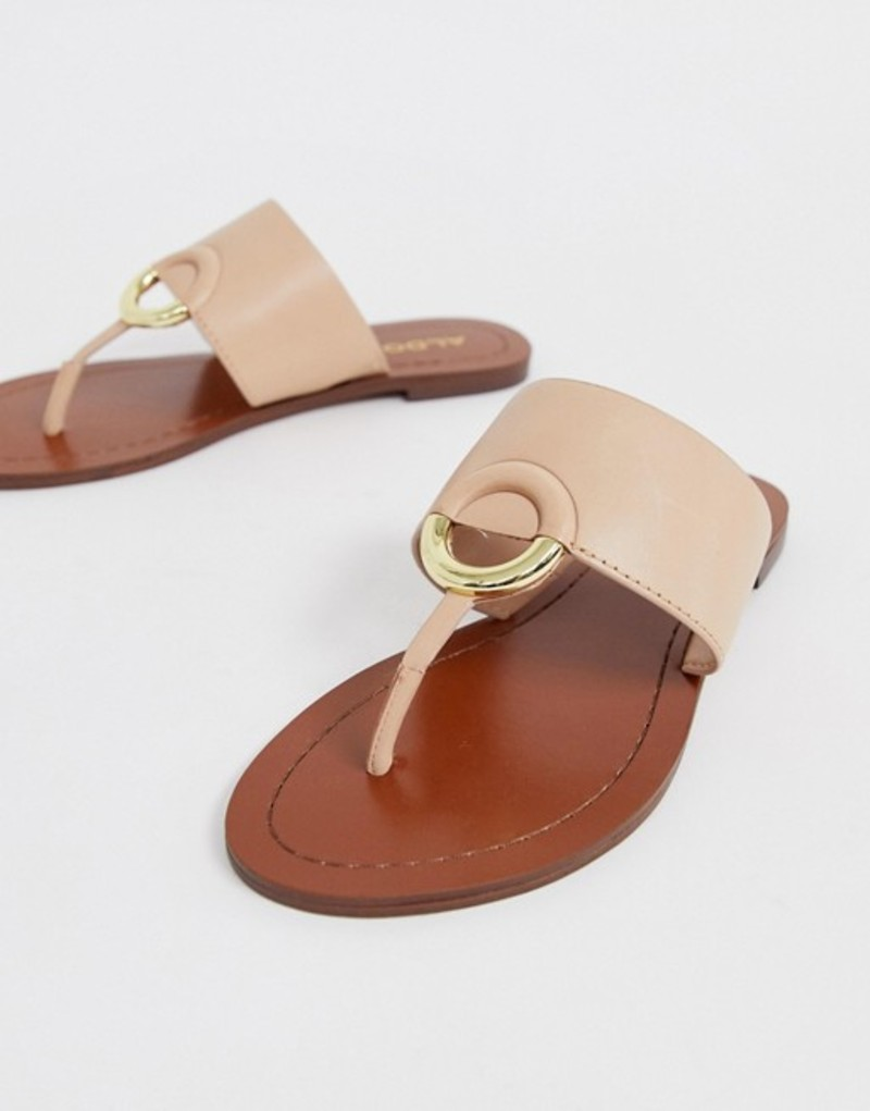 アルド レディース サンダル シューズ ALDO Ocericia leather ring post sandals in beige Nude leather