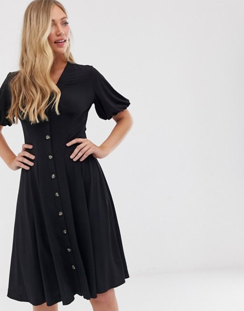 フレンチコネクション レディース ワンピース トップス French Connection button through midi dress Black