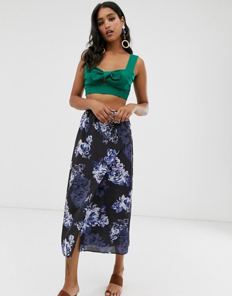 フレンチコネクション レディース スカート ボトムス French Connection floral maxi skirt Blue multi