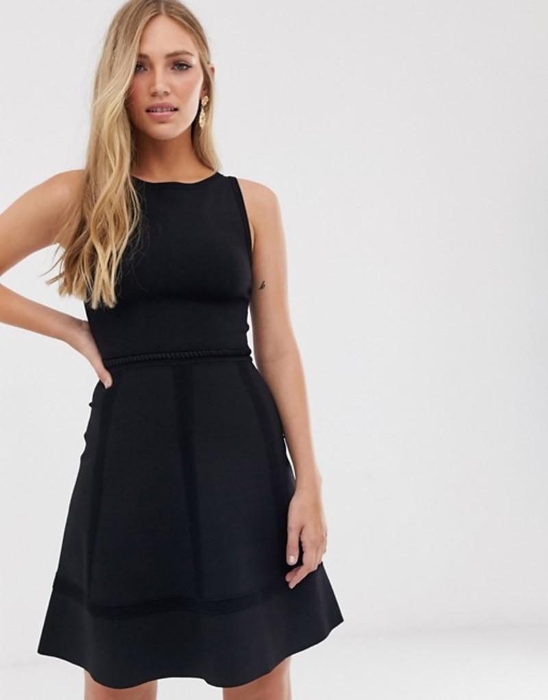 フレンチコネクション レディース ワンピース トップス French Connection fit and flare dress Black