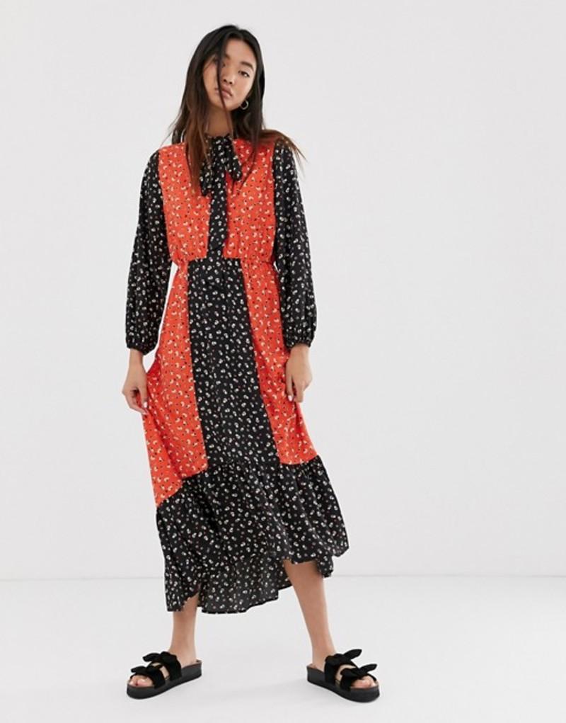 オンリー レディース ワンピース トップス Only maxi dress in mixed floral print Black