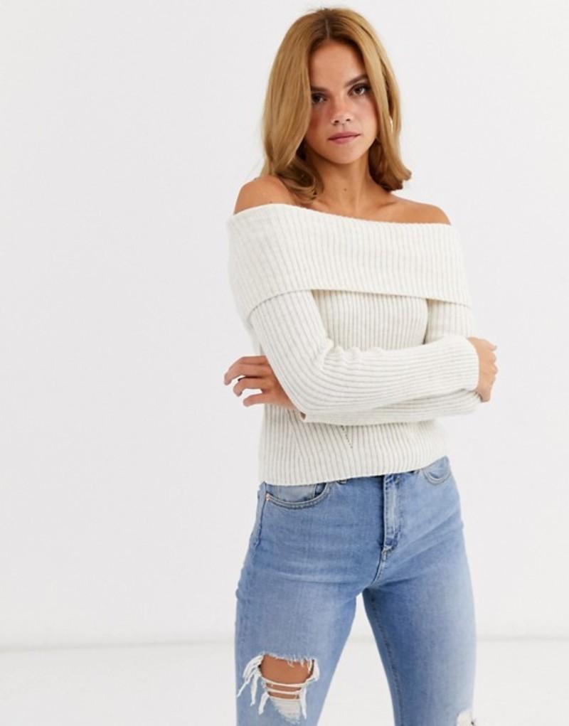 ミスセルフフリッジ レディース ニット・セーター アウター Miss Selfridge bardot sweater in cream two-piece Cream