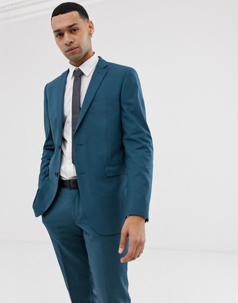 エスプリ メンズ ジャケット・ブルゾン アウター Esprit slim fit suit jacket in blue Blue
