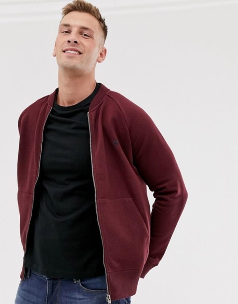 フレンチコネクション メンズ ジャケット・ブルゾン アウター French Connection zip through bomber jacket Red