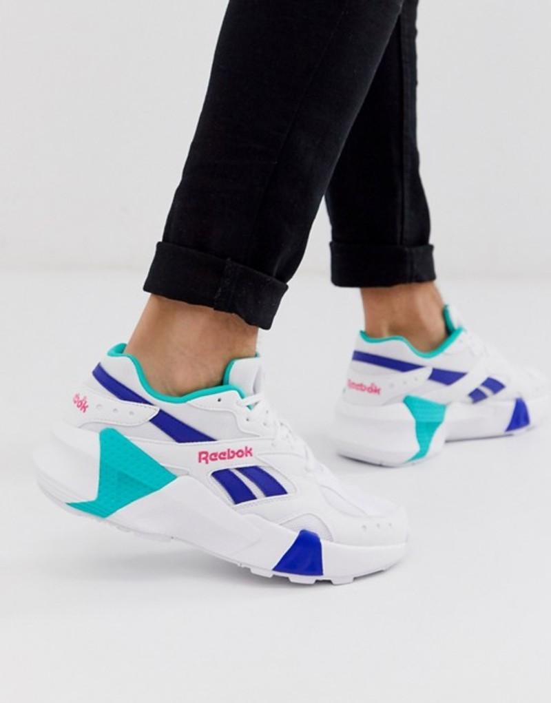 春先取りの リーボック メンズ スニーカー シューズ Reebok aztrek double sneakers in white White, ミナミサクグン cebb2c0b
