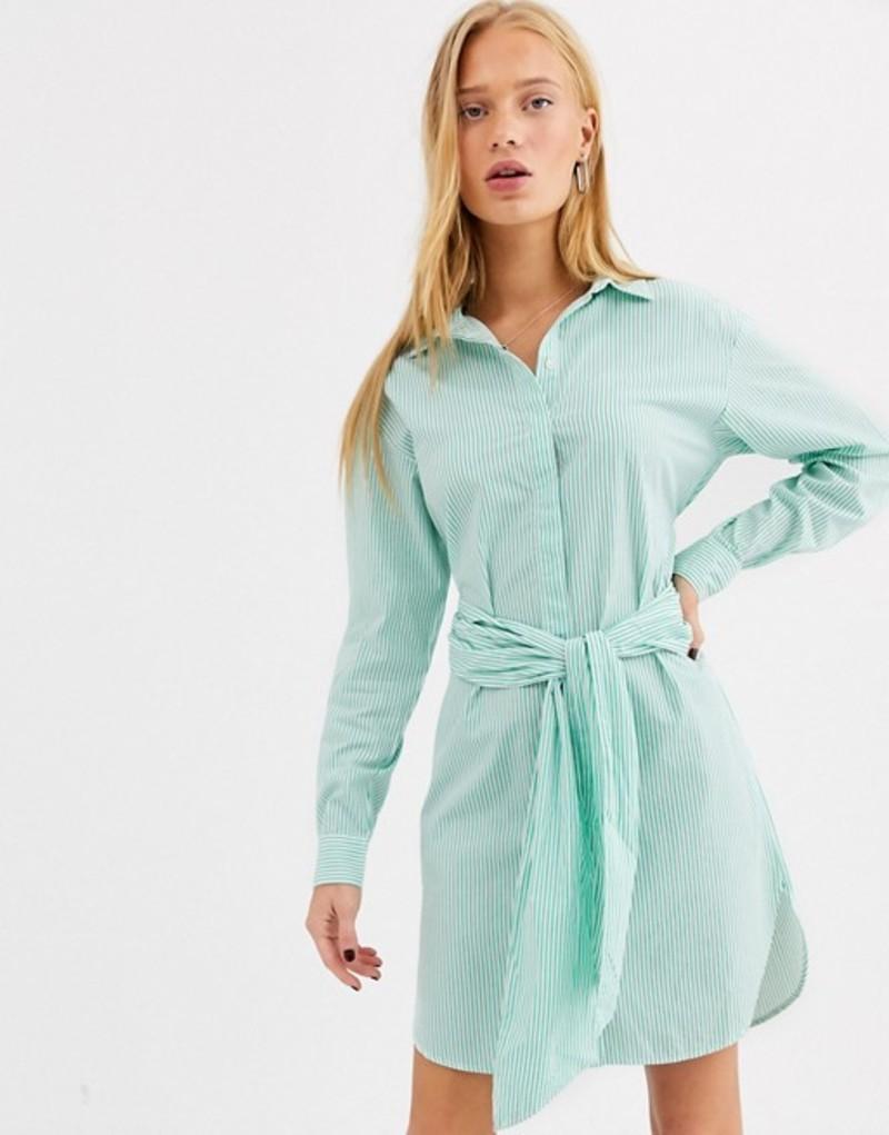 セレクティッド レディース ワンピース トップス Selected belted dress Gumdrop green