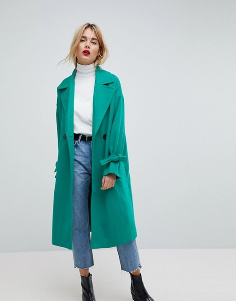 ヴェロモーダ レディース コート アウター Vero Moda Coat With Sleeve Detail Green