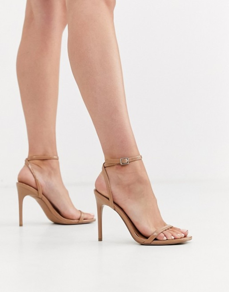 エイソス レディース サンダル シューズ ASOS DESIGN Nova barely there heeled sandals in beige Beige