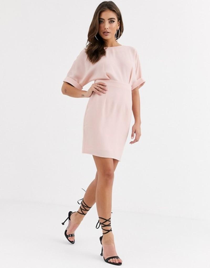 エイソス レディース ワンピース トップス ASOS DESIGN wiggle mini dress Blush