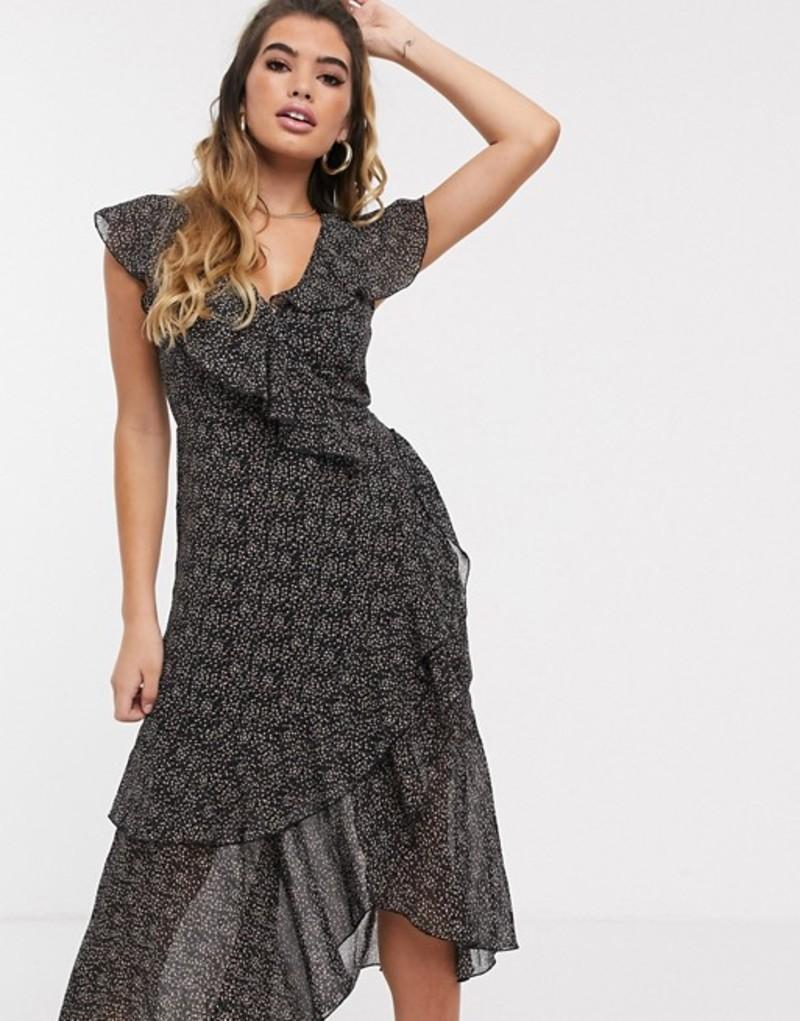 ミスガイデッド レディース ワンピース トップス Missguided midi frill tea dress in ditsy floral Multi