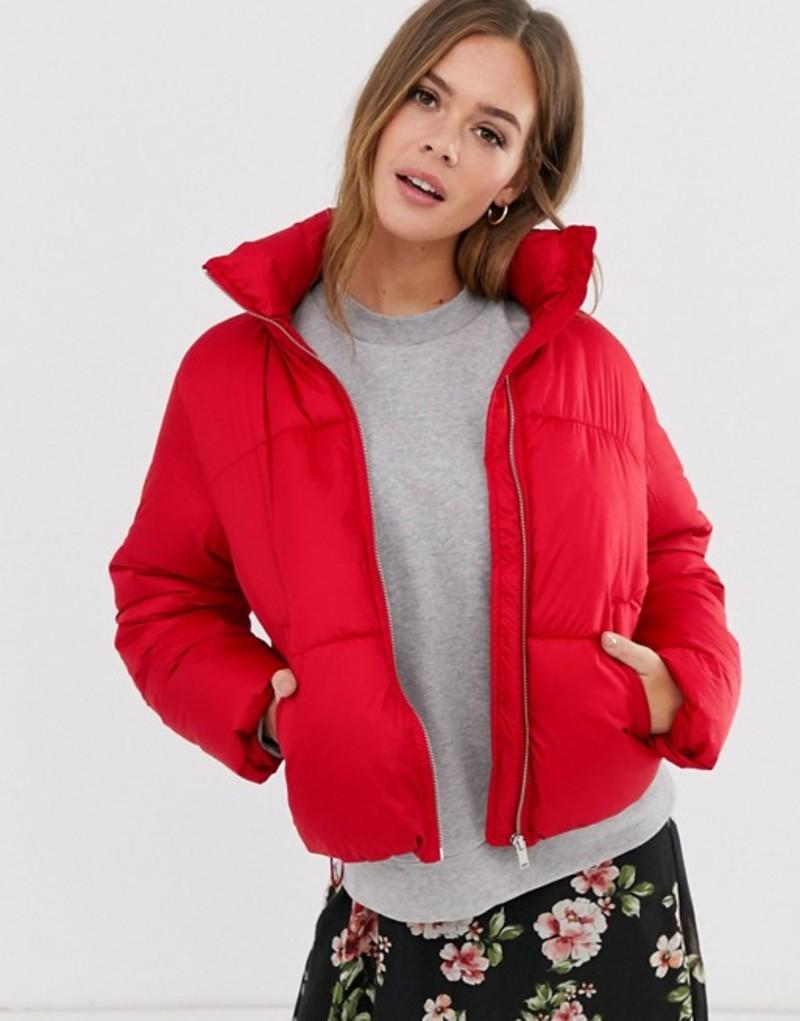ニュールック レディース ジャケット・ブルゾン アウター New Look boxy puffer jacket in bright red Bright red