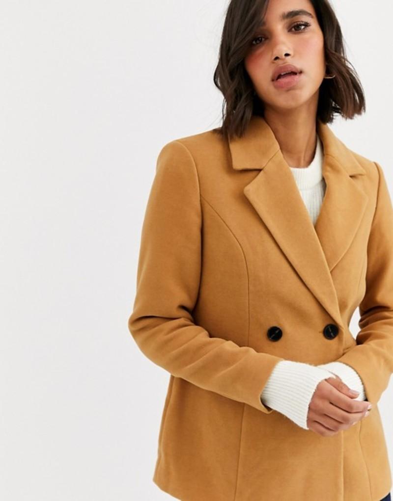 ヴェロモーダ レディース コート アウター Vero Moda tailored coat in beige Tan