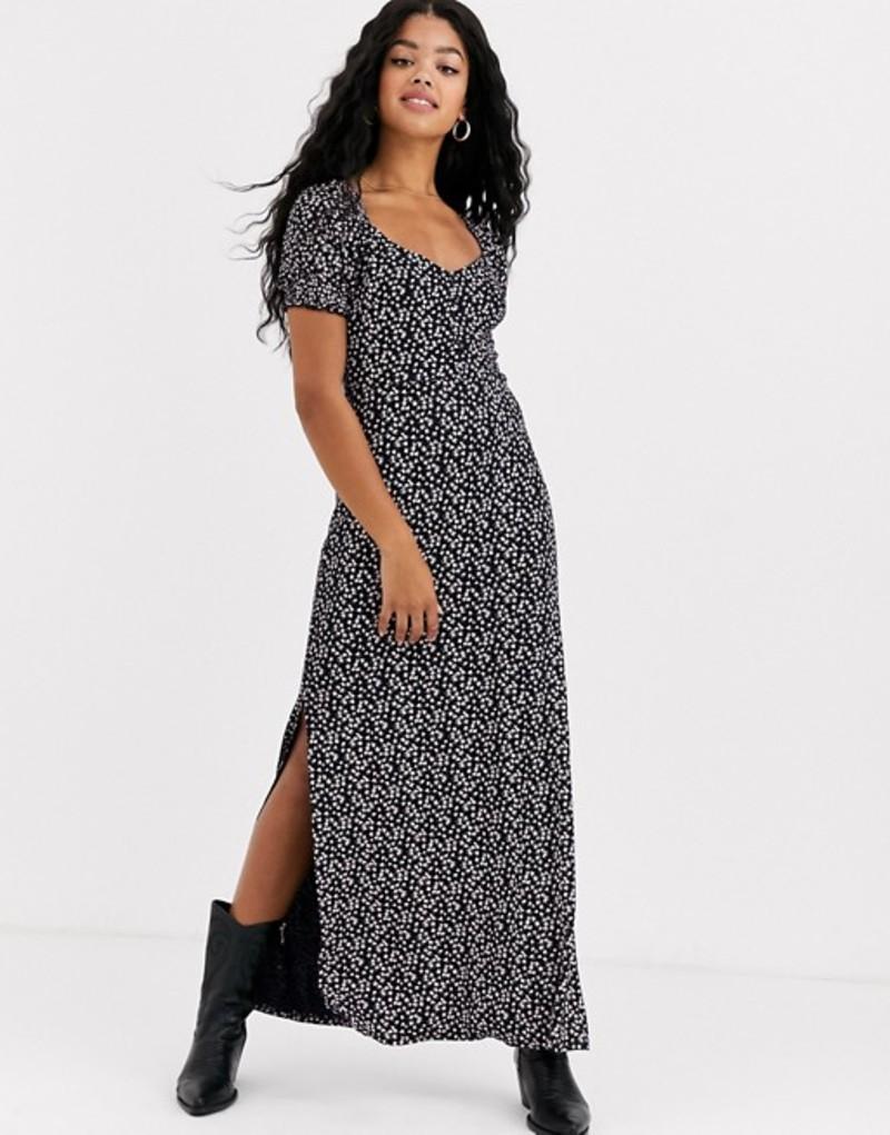 ミスセルフフリッジ レディース ワンピース トップス Miss Selfridge maxi dress in floral print Black