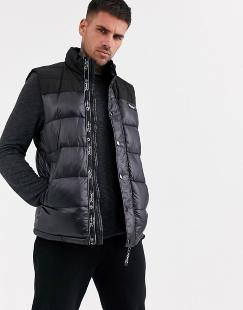 リバーアイランド メンズ タンクトップ トップス River Island prolific vest in black Black