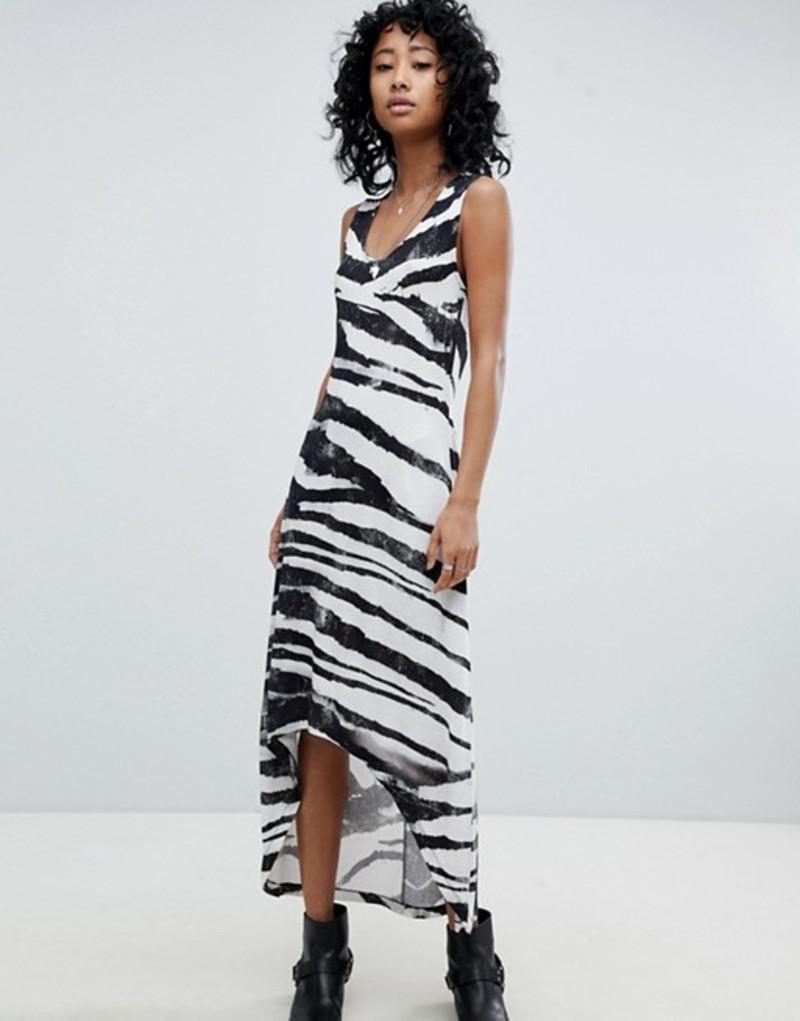 レリジョン レディース ワンピース トップス Religion Dip Hem Tank Dress In Zebra Print Grey