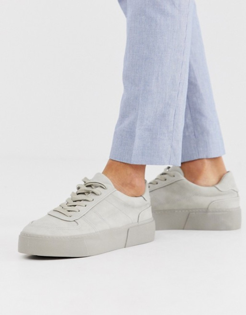 エイソス メンズ スニーカー シューズ ASOS DESIGN sneakers in gray with chunky sole Grey