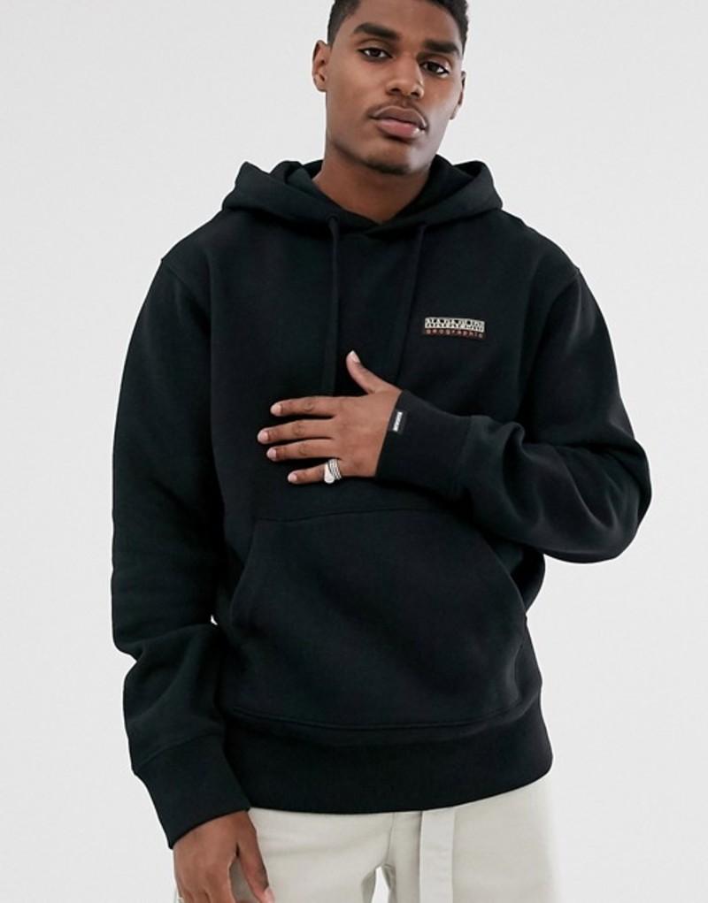 ナパピリ メンズ パーカー・スウェット アウター Napapijri Base hoodie in black Black