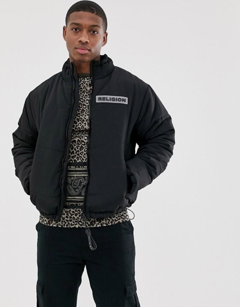 レリジョン メンズ コート アウター Religion puffer jacket with pockets in black Black