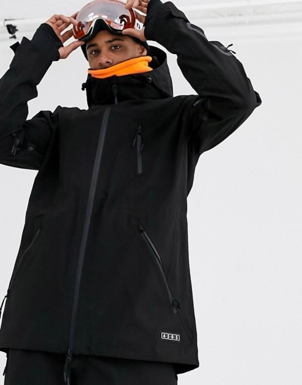 エイソス メンズ ジャケット・ブルゾン アウター ASOS 4505 ski hooded jacket in black Black