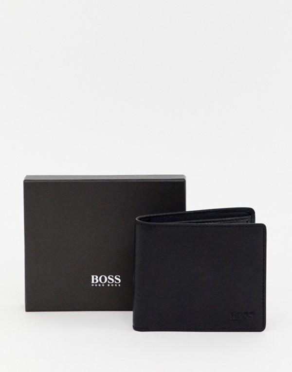 ボス メンズ 財布 アクセサリー BOSS Majestic leather coin wallet in black Black