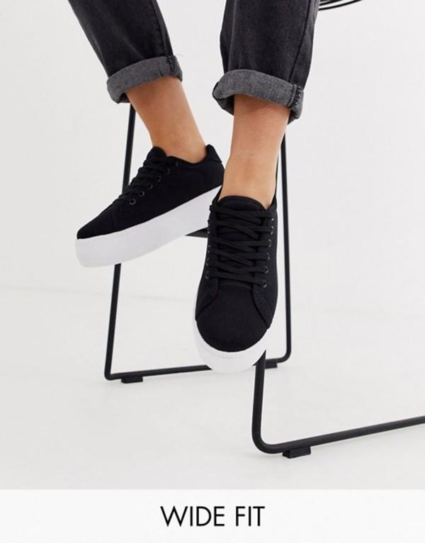 トリュフコレクション レディース スニーカー シューズ Truffle Collection wide fit flatform sneakers White