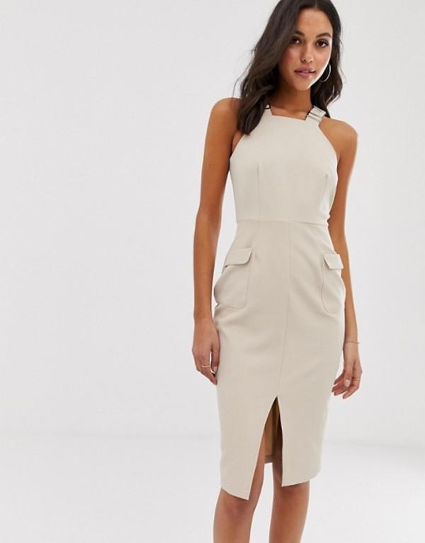 ユニークトゥエンティワン レディース ワンピース トップス Unique21 utility tailored dress Beige