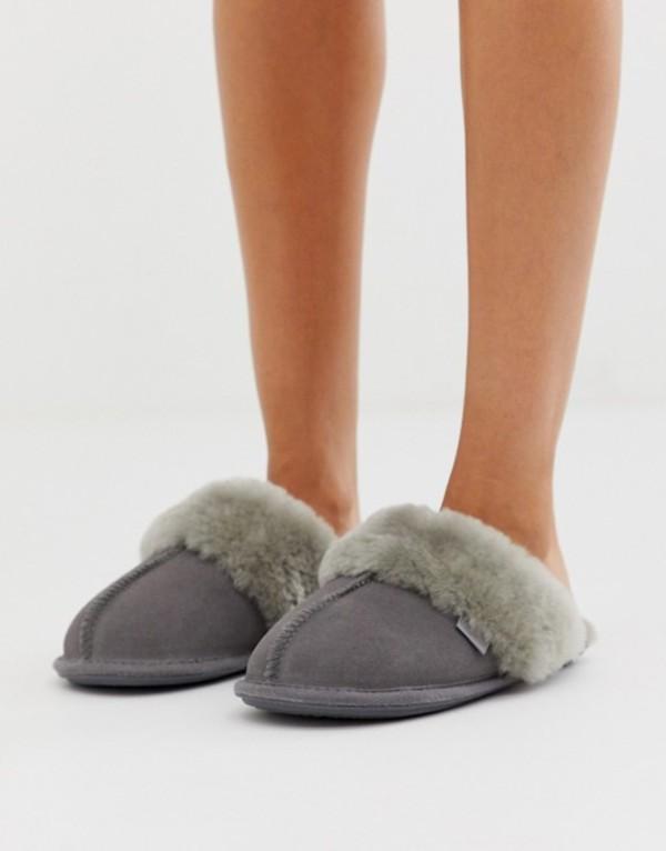ジャスト・シープスキン レディース サンダル シューズ Just Sheepskin mule slippers Grey
