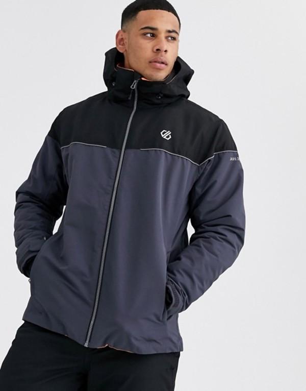 デアツービー メンズ ジャケット・ブルゾン アウター Dare 2b Ski Cohere jacket in gray Aluminium grey/black