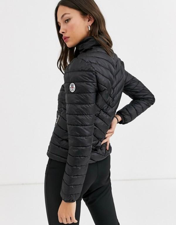 サーファニック レディース ジャケット・ブルゾン アウター Surfanic quilted jacket in black Black