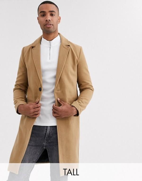 グッドフォーナッシング メンズ コート アウター Good For Nothing overcoat in camel Stone