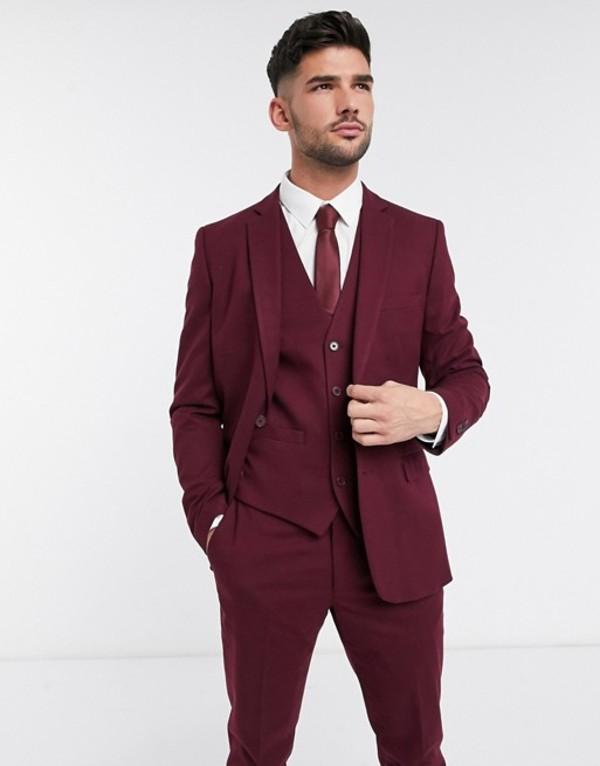 フレンチコネクション メンズ ジャケット・ブルゾン アウター French Connection wedding slim fit flannel suit jacket Chateaux