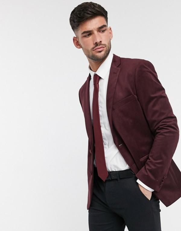 フレンチコネクション メンズ ジャケット・ブルゾン アウター French Connection velvet slim fit peak lapel jacket Chateaux