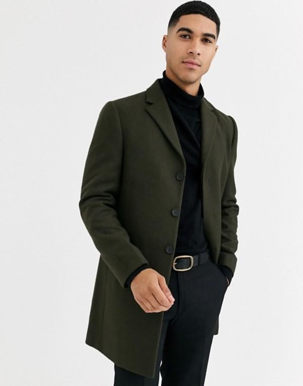 ルーディー メンズ コート アウター Rudie premium wool blend overcoat Green