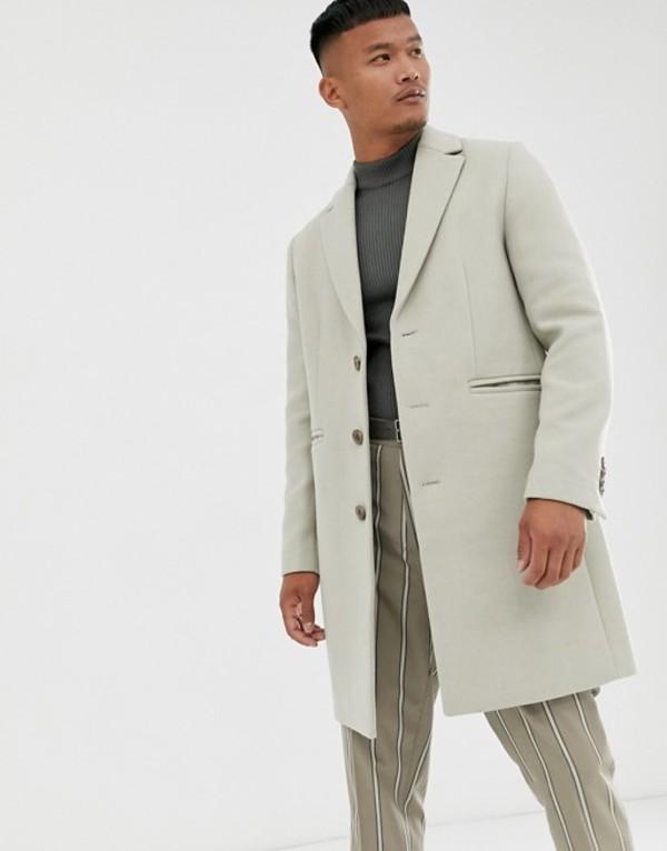 エイソス メンズ コート アウター ASOS DESIGN wool mix overcoat in off white White