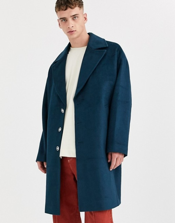 エイソス メンズ コート アウター ASOS WHITE overcoat in wool mix Reflecting pond